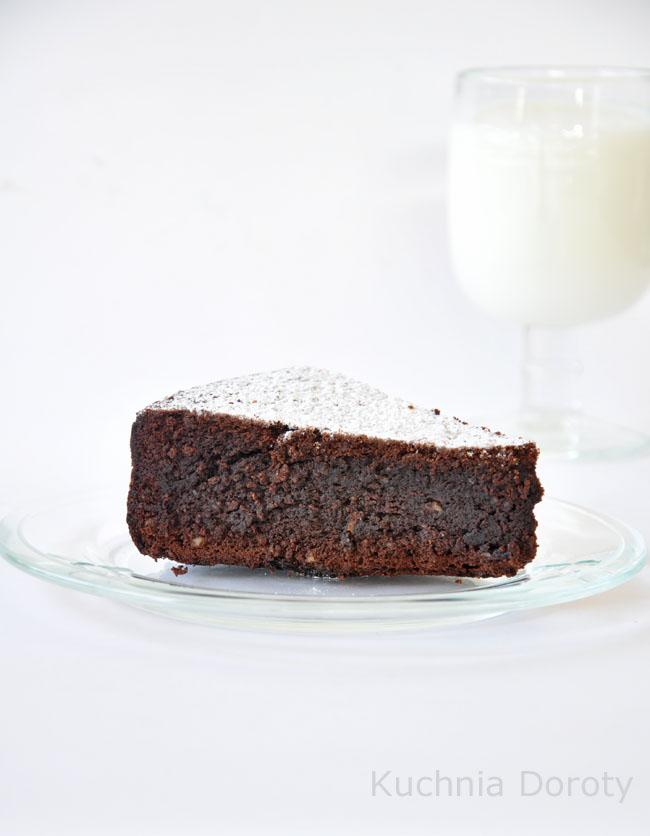 Ciasto czekoladowo-cytrynowe bez mąki