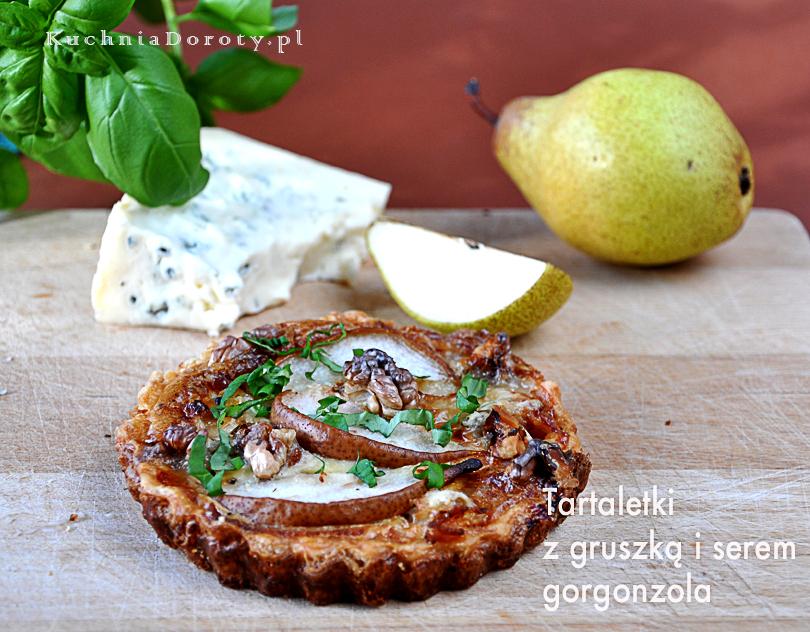 Tarta z Gruszkami i serem pleśniowym