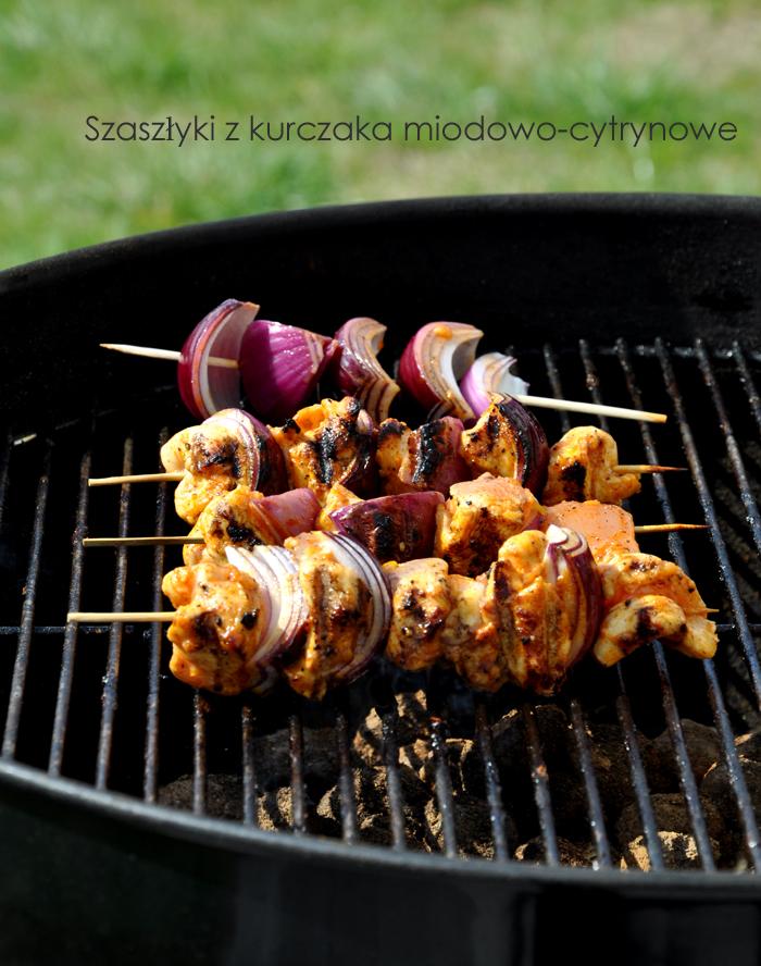 Szaszłyki z kurczaka w miodowo-cytrynowej glazurze