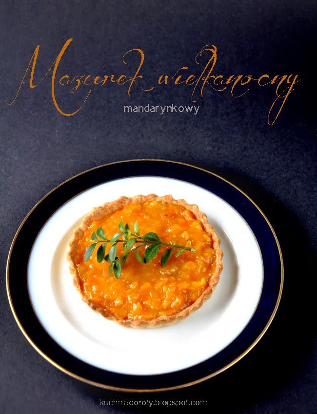 Mazurek wielkanocny – mandarynkowy