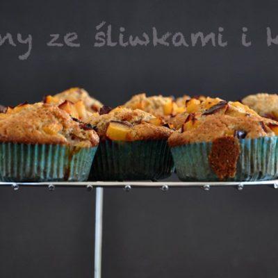 Muffiny ze Śliwkami i Kawą