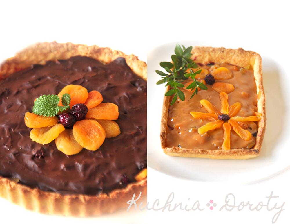 Mazurki wielkanocne z masą kajmakowo-czekoladową i masą krówkową