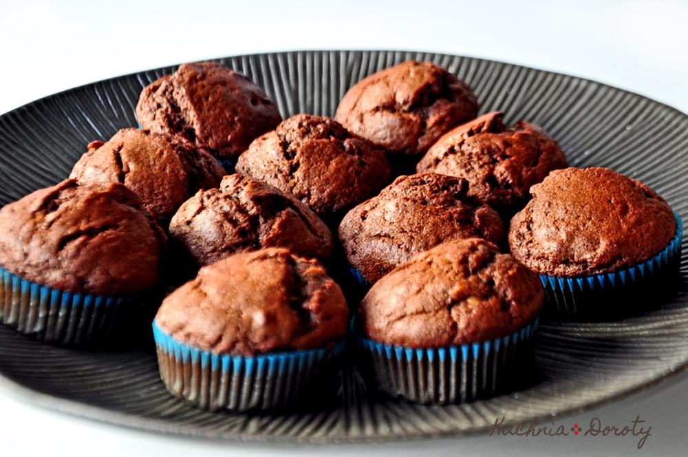 Muffiny czekoladowo bananowe