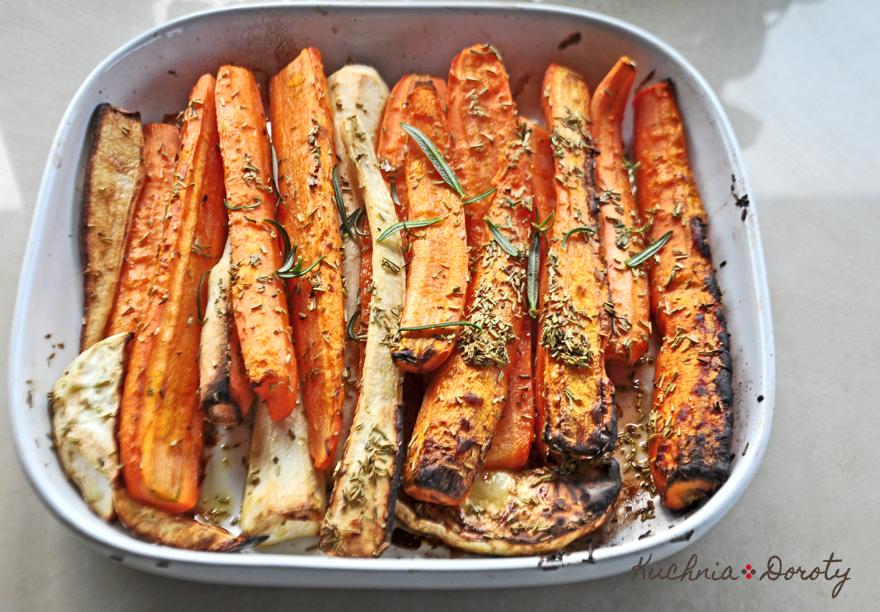 Warzywa pieczone z rozmarynem