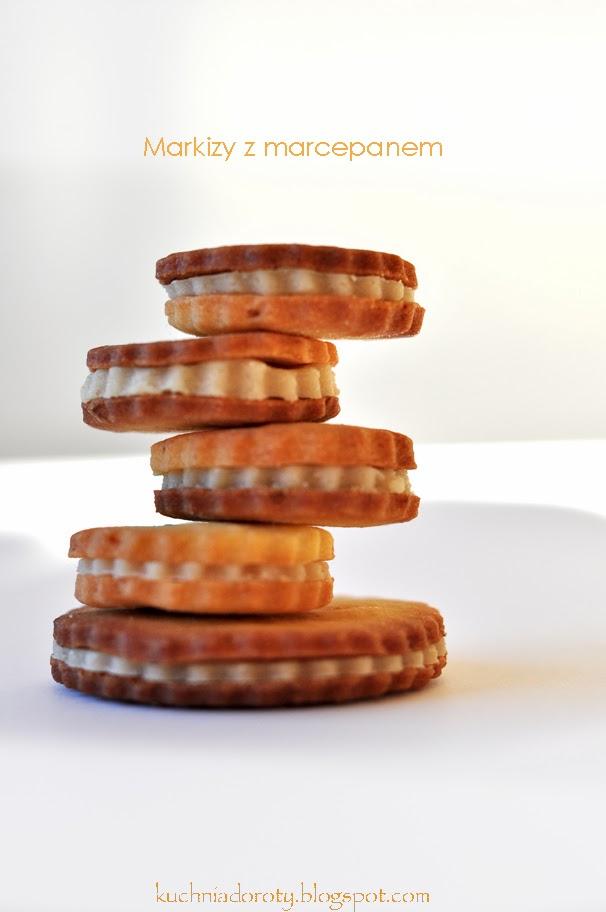 Markizy – kruche ciasteczka z marcepanem
