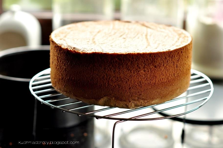 Biszkopt kawowy na tort