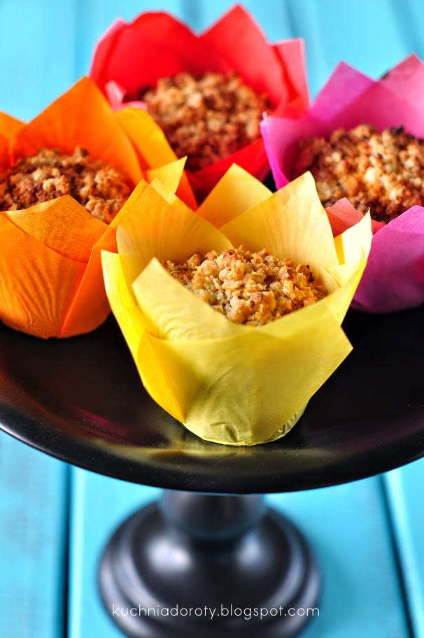 Muffiny z Truskawkami i Rabarbarem