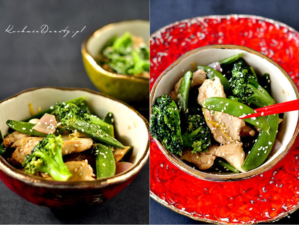 Kurczak po Chińsku z Warzywami i Sezamem