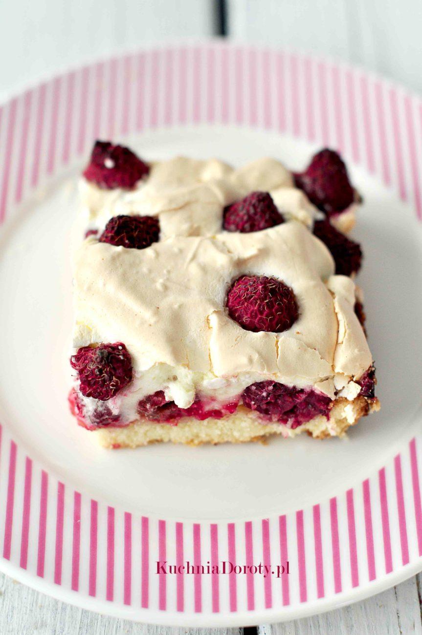 Ciasto z Malinami i Pianką – Pyszne