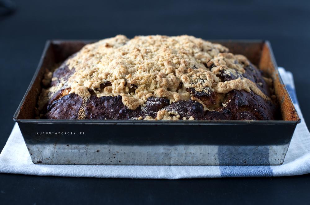 Leniwe Ciasto Drożdżowe bez wyrabiania