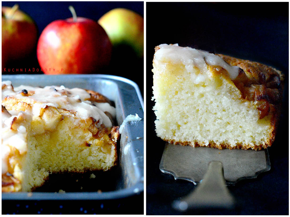 Ciasto z karmelizowanymi jabłkami i sosem karmelowym