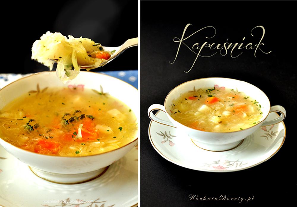 Kapuśniak Zupa z Kiszonej Kapusty