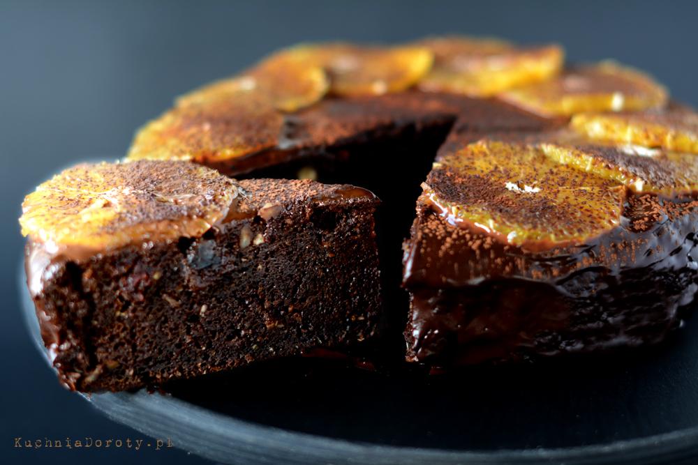 Ciasto Czekoladowo Mandarynkowe