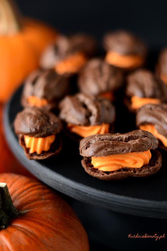 eklerki, eklerki przepis, ciastka, ciastka przepis, ciasto, ciasto przepis, przepisy, kuchnia doroty, dorota gotuje , halloween, przepisy na halloween,