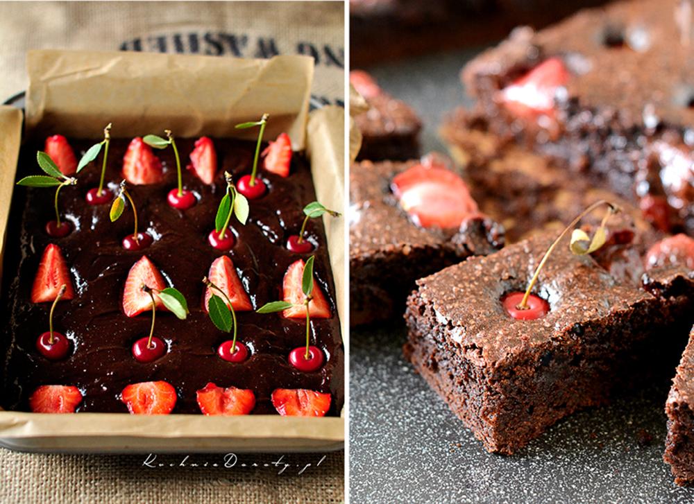 Brownie z Truskawkami i Wiśniami