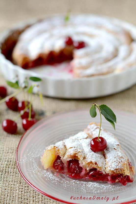 ciasto, ciasto przepisy, ciasto zowocami, przepisy, ciasto francuskie, ciasto francuskie zowocami, ciasto francuskie przepisy, ciasto zwiśniami, ciasto zwiśniami przepisy, wiśnie, wiśnie przepisy,