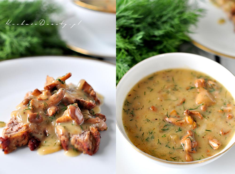 Pieczona polędwica wieprzowa z sosem z kurek