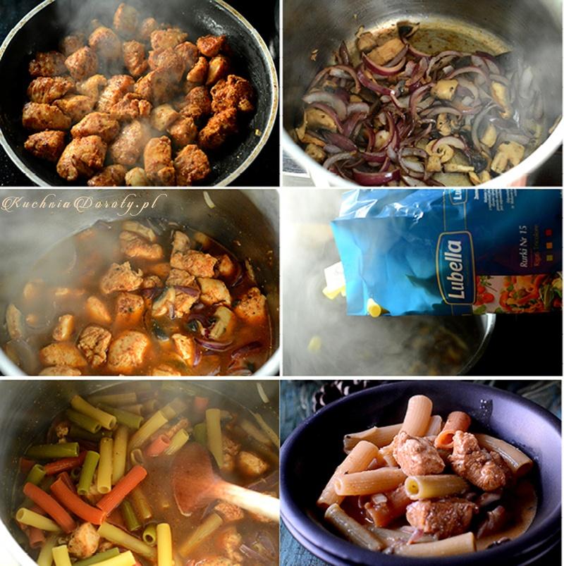 Jak zrobić potrawkę z kurczaka z makaronem.