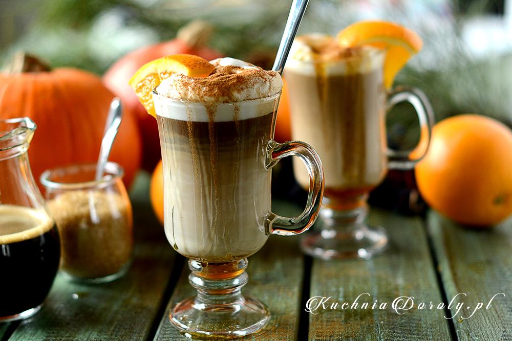 Kawa Latte z syropem pomarańczowym