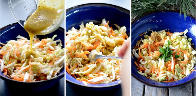 Surówka z Kapusty Pekińskiej z sosem