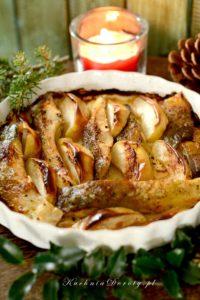 Karp Pieczony z Jabłkami