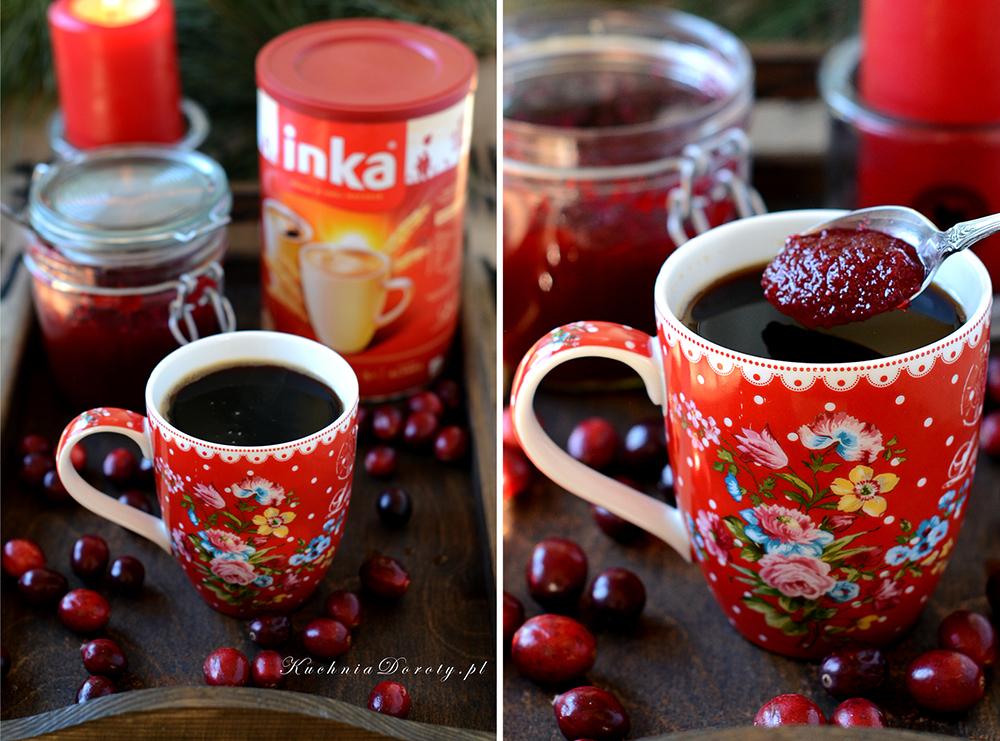Zimowa Kawa Inka z Żurawinową Konfiturą