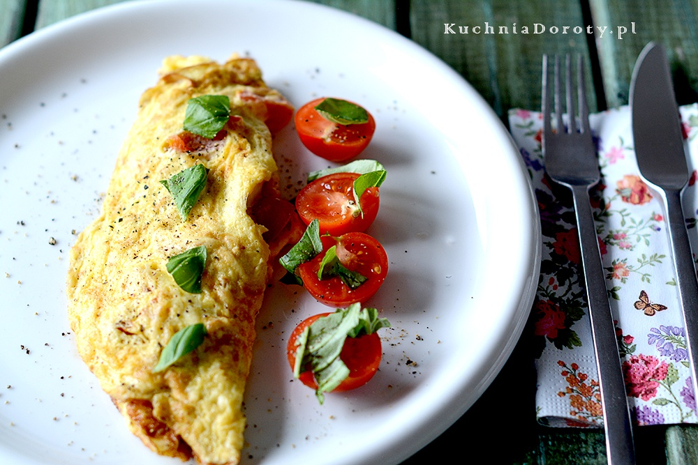 Omlet z Oscypkiem i Pomidorami
