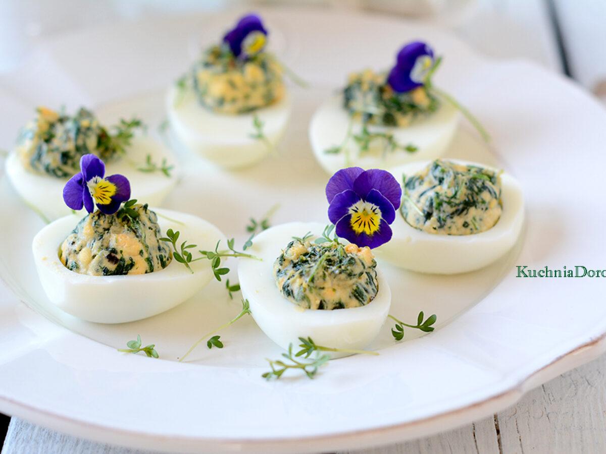 Jajka Faszerowane Szpinakiem Pyszne Kuchnia Doroty