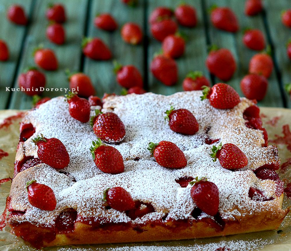 Ciasto z Truskawkami – Pyszne i Łatwe – przepis z filmem