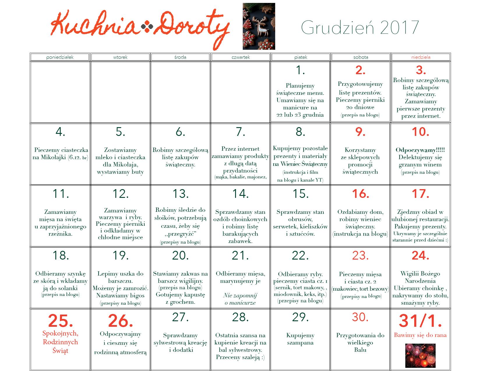 Kalendarz Adwentowy 2017
