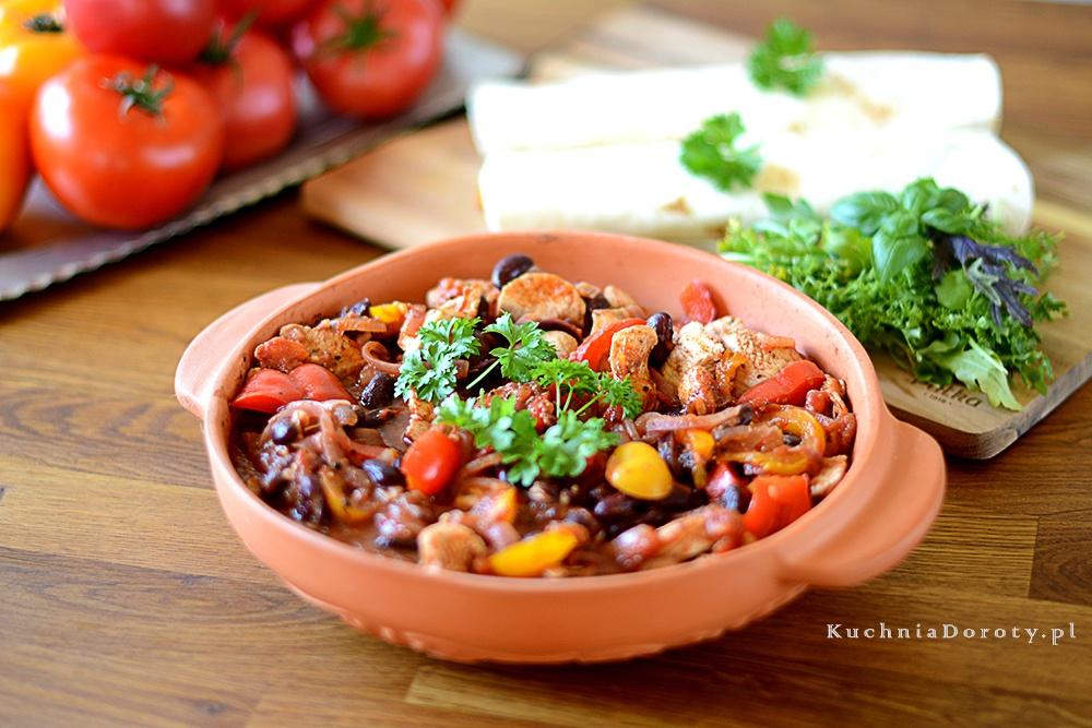 Fajita z Kurczaka z Warzywami – obiad w 30 min.