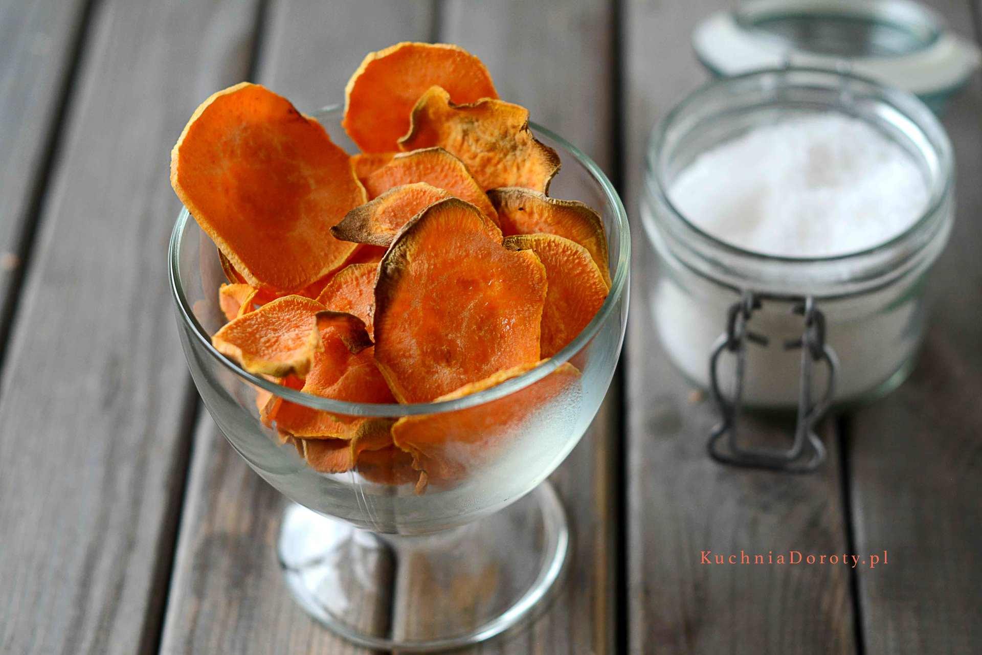 chipsy, bataty, przekąska, vege, zdrowe