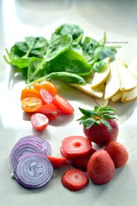 Sałata Szpinak z Owocami