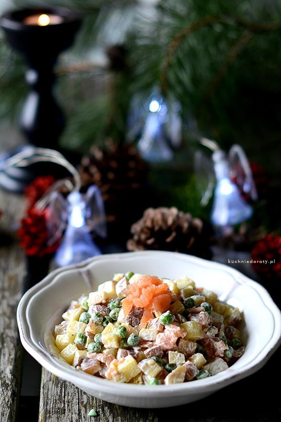 Sałatka Ziemniaczana z Łososiem