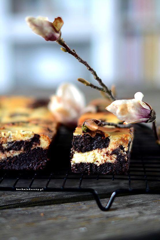 Brownie z Serem i Masłem Orzechowym– przepis z filmem