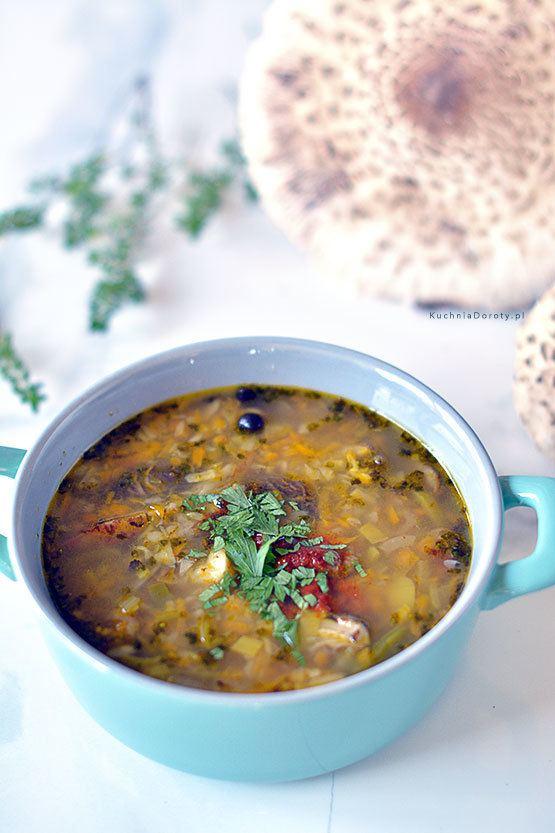 Flaki z Kani – zupa grzybowa