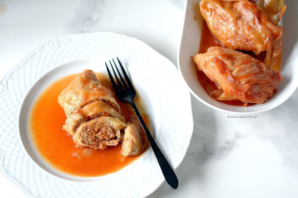 Gołąbki czyli Kapusta Faszerowana w Sosie Pomidorowym