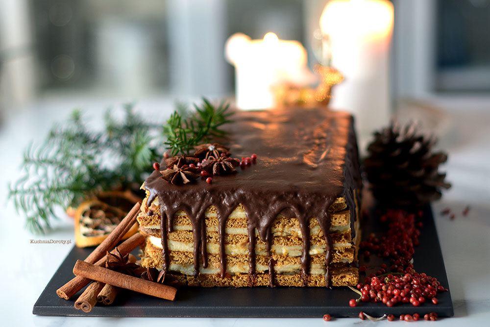 Miodowe Ciasto świąteczne