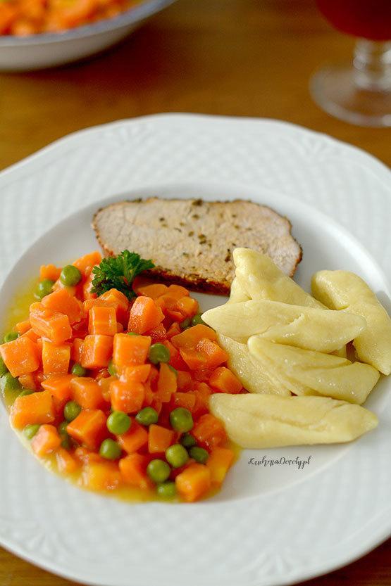 Marchewka z Groszkiem Obiad
